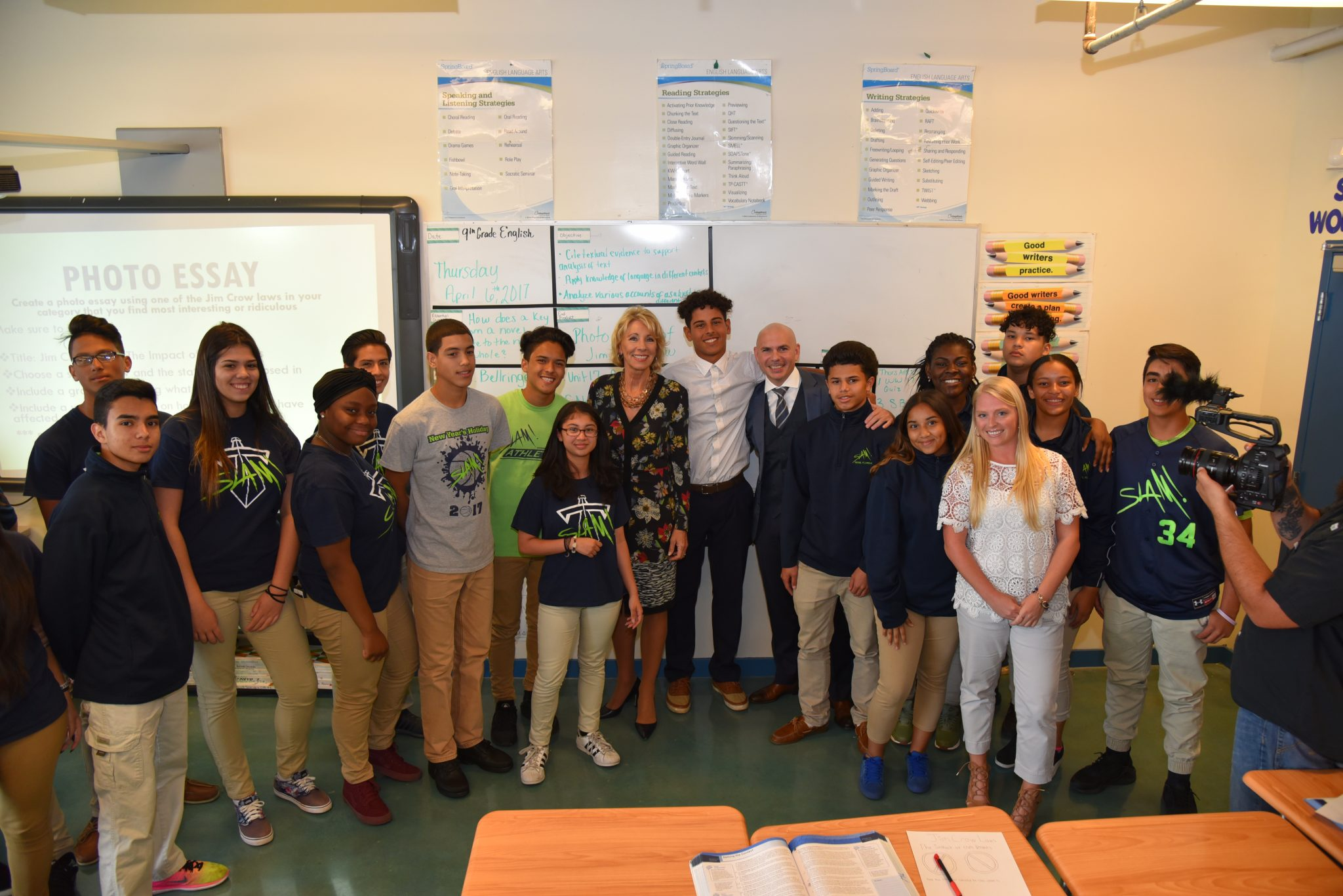 DeVos visits SLAM – a charter school that's helping minority students get to college