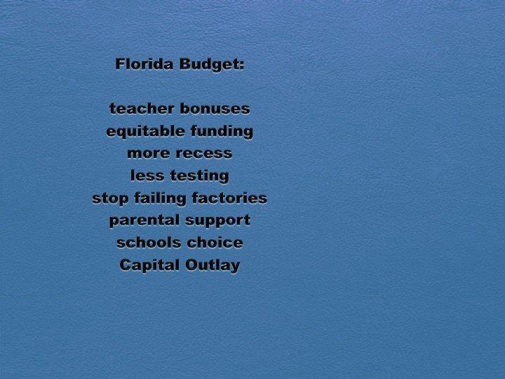 FCSA Urges Legislators to Pass State Budget