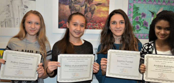 Hollywood Academy of Arts and Science Students Shine in Art Competition