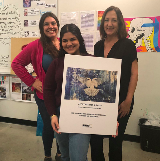 Miami Arts Charter Students Wins FCSA Holiday Card Design Contest